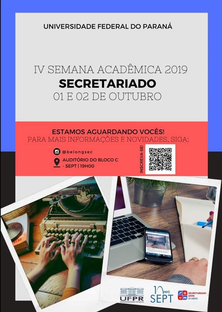 Semana Acadêmica de Secretariado da UFPR